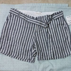 Blue & white striped shorts